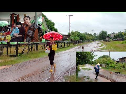 #ทำบุญวันเข้าพรรษาพายุเข้าฝนตก