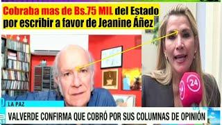 Carlos Valverde confirma que cobró mas de Bs 75Mil por columnas a favor de Jeanine Áñez - Bolivia
