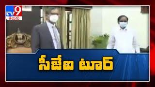 CJI Ramana accorded warm welcome in Telangana - TV9 - TV9