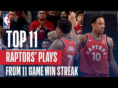 connectYoutube - STREAKING! The Raptors Top 11 Plays From Their 11 Game Win Streak
