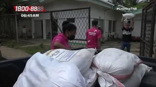 Madres de Héroes y Mártires reciben paquetes alimenticios en Bilwi - Nicaragua