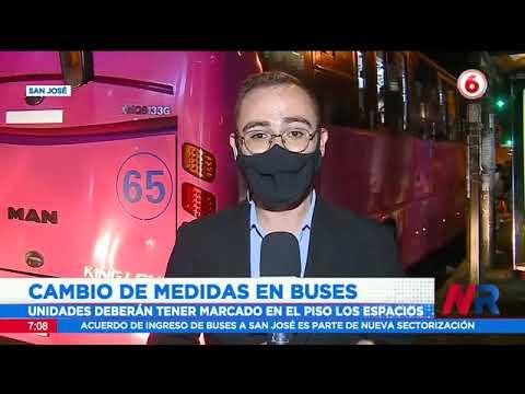 Cambio de medidas en buses: Pueden ir 10 personas de pie para aumentar capacidad