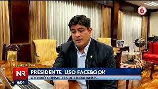 Presidente atendió consultas de ciudadanos a través de Facebook