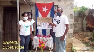 Activistas de UNPACU rinden homenaje a Orlando Zapata Tamayo , Hermanos al rescate y Ahmed Santiago.
