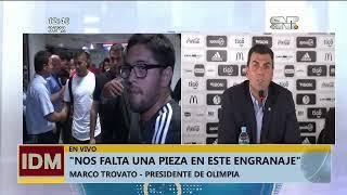 Marco Trovato: 'Con 20 mil socios más en Olimpia, anunciamos a Emmanuel Adebayor'