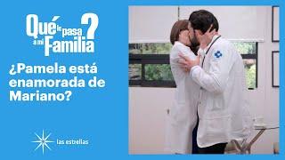 ¿Qué le pasa a mi familia: ¡Pamela besa a Mariano! | C-3 | Las Estrellas