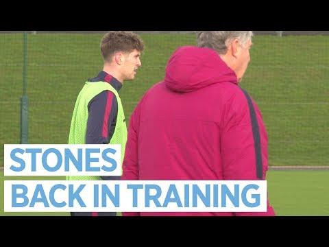 HAIL, STONES!  JOHN BACK IN TRAINING   Post Newcastle Utd Training