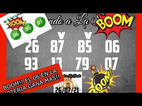 BOOM!! EL 06 EN LA LOTERIA GANA MAS!!