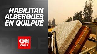 Municipalidad de Quilpué habilita albergues para afectados por incendio forestal