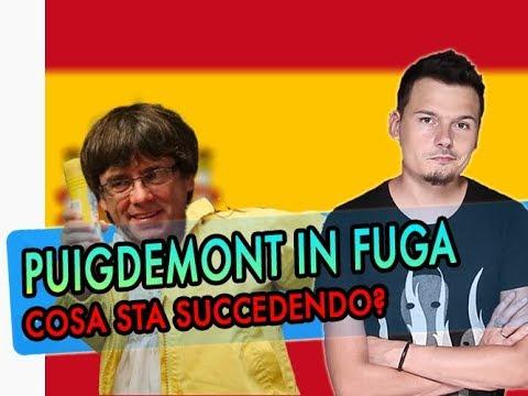 La FUGA di Puigdemont dalla Catalogna, cosa sta succedendo?