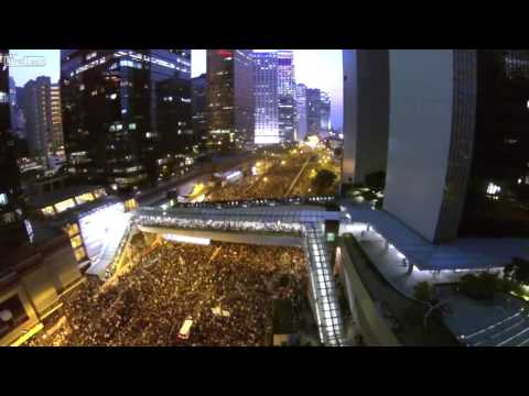 100,000 Protesters Fill the Streets of Hong Kong (Drone Cam)