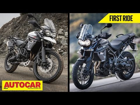 2015 Triumph Tiger 800 XR & 800 XC | First Ride Video Review | Autocar India