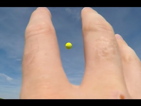 connectYoutube - GoPro wrist strap, catching a tennis ball.