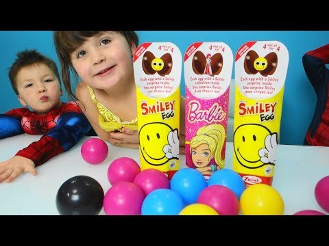 Balls Learning Colors with Kids and Surprise Eggs Learn colors and open eggs surprises for Baby