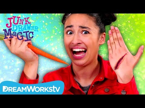 Slicing Your Skin With a Carrot | JUNK DRAWER MAGIC
