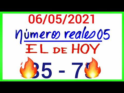 NÚMEROS PARA HOY 06/05/21 DE MAYO PARA TODAS LAS LOTERÍAS....!! Números reales 05 para hoy.....!!