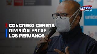 Ministro Zamora acusa al Congreso de generar división entre los peruanos