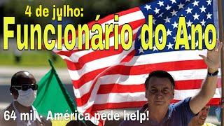 4 de Julho! Bolsonaro: Empregado do Ano! Malafaia veta ministro Guedes: Milicevangelistão à venda!
