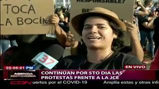 Continúa por quinto día las protestas frente a la JCE