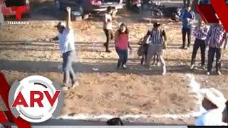 Un hombre fue violentamente embestido durante una carrera clandestina   Al Rojo Vivo   Telemundo