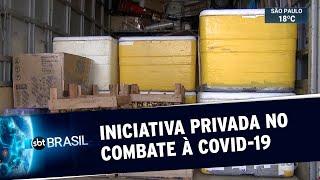 Empresas distribuem refeições e recursos para hospitais em SP | SBT Brasil (01/06/20)