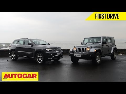 Jeep Grand Cherokee & Wrangler Driven In India