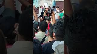 Artistas de Cuba en la concentración espontánea de jóvenes en el parque Trillo, en La Habana