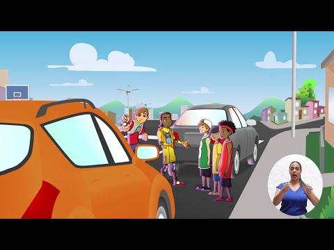 Peatón Seguro - ¿Cómo cruzar entre autos