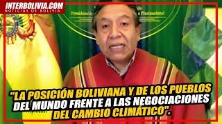 ???? LA POSICIÓN BOLIVIANA Y DE LOS PUEBLOS DEL MUNDO FRENTE A LAS NEGOCIACIONES DEL CAMBIO CLIMÁTICO