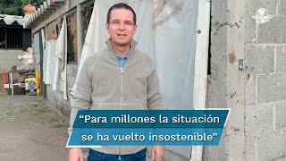 """""""Urge un gobierno competente y solidario"""", dice Ricardo Anaya tras recorrer el Estado de México"""