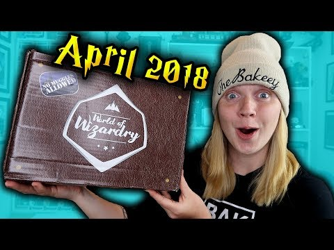 Harry Potter - World Of Wizardry Unboxing - April 2018 - Geek Gear