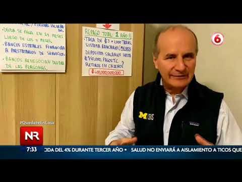 Figueres propone usar $1.000 millones de las reservas del Banco Central