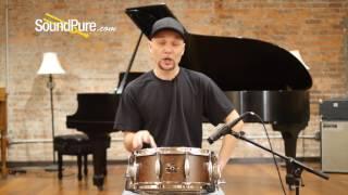 Metro Drums 6x14 Jarrah/Poplar/Jarrah Ply Snare Drum - Elm Burl Quick n' Dirty