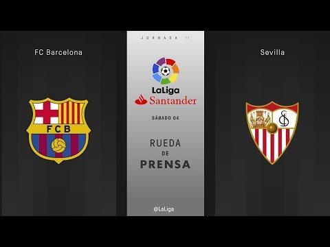 Rueda de prensa FC Barcelona vs Sevilla