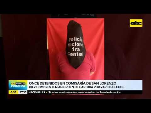 Once detenidos tras procedimientos en San Lorenzo