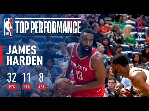 connectYoutube - James Harden Fills Up The Stat Sheet in New Orleans!