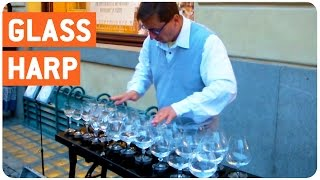 Glass Harp Player Makes Your Heart Feel Loved