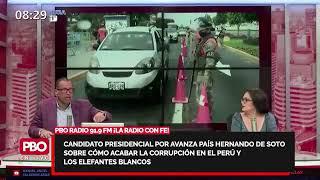 Avanza País HERNANDO DE SOTO: Cómo acabar corrupción y elefantes blancos: Odebrecht, Gasoducto...