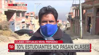 10% de estudiantes de primaria, en Chasquipampa, no pasan clases virtuales por el internet