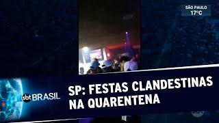 Estabelecimentos funcionam de forma clandestina durante pandemia em SP | SBT Brasil (04/07/20)