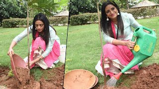Anchor Udaya Bhanu Takes Green India Challenge - RAJSHRITELUGU