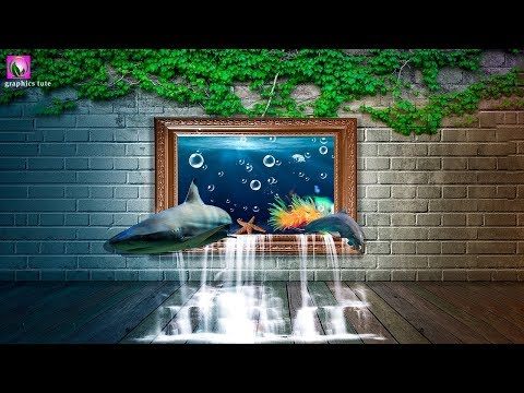 3D Fish Out Of Frame - Photo Manipulation Tutorial - Photoshop CC