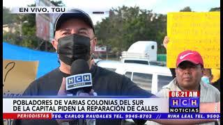 ¡Protesta en salida al sur! Vecinos de varias colonias exigen pavimentación de calles