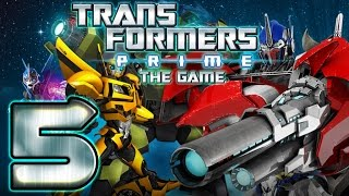 Transformers Prime Walkthrough Part 5 No Commentary (WiiU, Wii) - Optimus Prime Mission 5