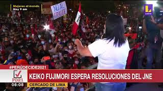 ???? Keiko Fujimori espera resoluciones del Jurado nacional de elecciones