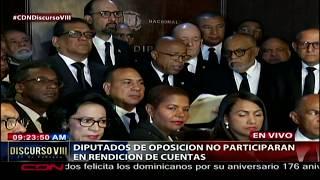 Diputados de oposición no participarán en rendición de cuentas presidente Medina