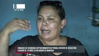 Captan a carro blanco que intentó secuestrar una niña en Managua - Nicaragua