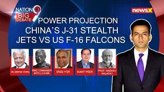 Power Projection | China's J-31 stealth jets Vs US F-16 Falcons | NewsX - NEWSXLIVE