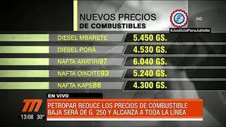Petropar baja G. 250 el precio de todos sus combustibles