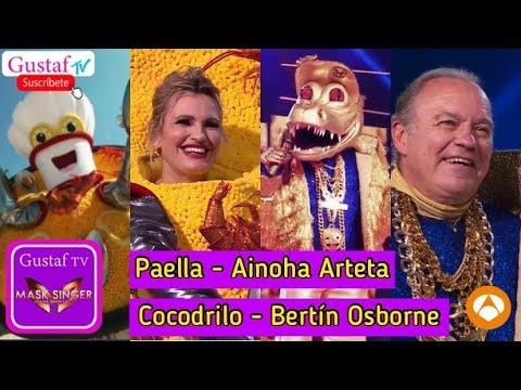 MASK SINGER   Cocodrilo  Bertín Osborne y Paella  Ainhoa Arteta